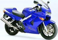 Honda VFR 800i 1999 - Blaue EU Version - Dekorset