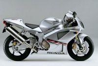 Honda VTR 1000 2001 - Silber Version - Dekorset