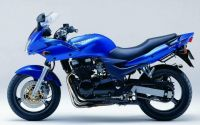 Kawasaki ZR-7S 2002 - Blaue Version - Dekorset