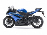 Kawasaki ZX-6R 2011 - Blaue Version - Dekorset