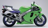 Kawasaki ZX-7R 1997 - Grüne Version - Dekorset