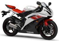 Yamaha YZF-R6 RJ15 2008 - Weiß/Rote Version - Dekorset