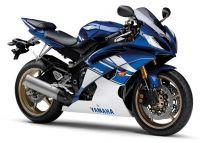 Yamaha YZF-R6 RJ15 2010 - Blau/Weiße Version - Dekorset