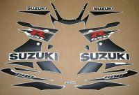 Suzuki GSX-R 600 2001-2003 - Schwarz-Matt - Custom-Dekorset