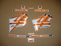 Suzuki Hayabusa 1999-2007 - Chrome-Orange - Custom-Dekorset
