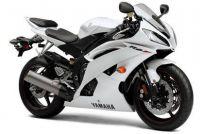 Yamaha YZF-R6 RJ15 2010 - Weiße Version - Dekorset
