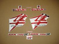 Suzuki Hayabusa 1999-2007 - Chrome-Rot - Custom-Dekorset