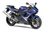 Yamaha YZF-R6S RJ15 2008 - Blaue Version - Dekorset