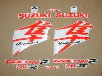 Suzuki Hayabusa 2008-2019 - Fluoreszierend-Rot - Custom-Dekorset
