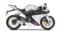 Yamaha YZF-R125 2012 - Weiße Version - Dekorset