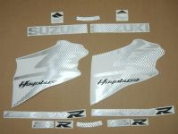 Suzuki Hayabusa 2008-2019 - Carbon-Silber - Custom-Dekorset