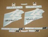 Suzuki Hayabusa 2008-2019 - Weiß - Custom-Dekorset