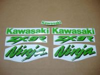 Kawasaki ZX-9R - Grün - Custom-Dekorset