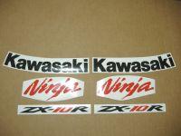 Kawasaki ZX-10R 2008 - Rot - Custom-Dekorset
