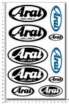 ARAI Helm - Stickerset 16x26cm
