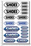 SHOEI Helm - Stickerset 16x26cm