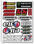 KAWASAKI WSB Stickerset 24x32cm