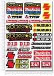 SUZUKI Makita Rockstar Stickerset 34x49cm