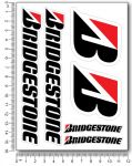 Bridgestone Stickerset 12x16cm