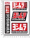 YOSHIMURA Stickerset 12x16cm
