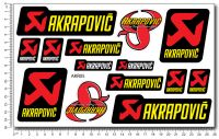 AKRAPOVIC - Stickerset 16x26cm