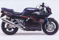 Suzuki GSX-R 750 1994 - Schwarz/Violett Version - Dekorset