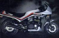 Honda CBX 750F 1985 - Silber Version - Dekorset