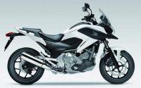 Honda NC700X 2014 - Weiße Version - Dekorset