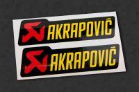 AKRAPOVIC V2 Auspuff-Aufkleber hitzefest, 2 Stück