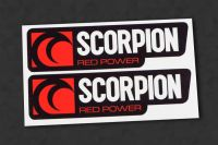 SCORPION V1 exhaust-sticker heatproof, 2 pcs