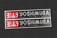 YOSHIMURA V1 Auspuff-Aufkleber hitzefest, 2 Stück