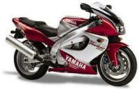 Yamaha YZF-1000R 1997 - Burgunder/Silber Version - Dekorset