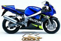 Suzuki GSX-R 600 2001 - Blau/Schwarze Version - Dekorset